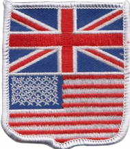 United Kingdom UK & United States America USA Friendship Flag Embroidered Patch A248